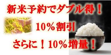 ★お得な新米予約受付中★10%OFFプラス10%増量サービス★