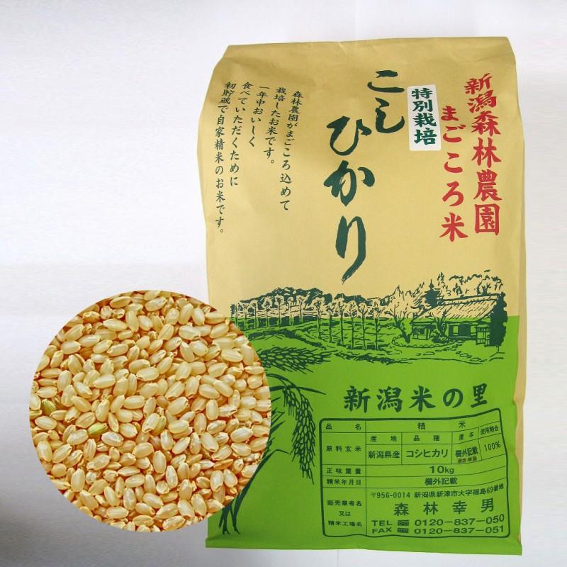 ★送料無料★特別栽培米コシヒカリ(玄米)30kg