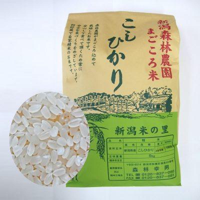 【毎回10%増量】まごころ米 コシヒカリ(白米)5kg 定期6回コース